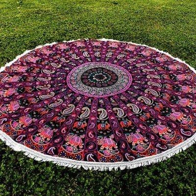 mandala redonda fucsia elefantes tienda de decoración