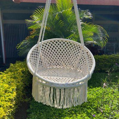 silla redonda colgante